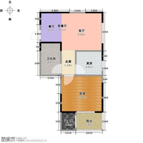 金泰怡景花园1厅1卫1厨41.60㎡户型图