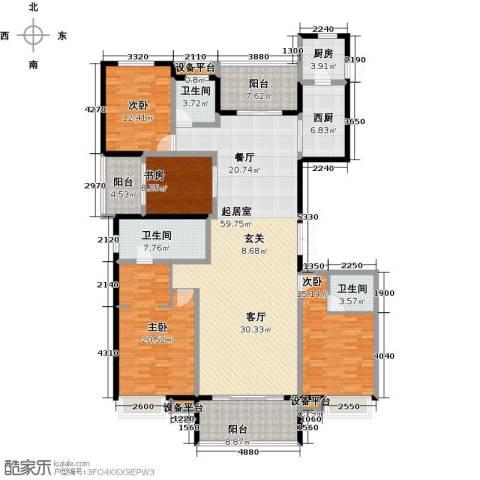 万科金域曲江4室0厅3卫1厨235.00㎡户型图