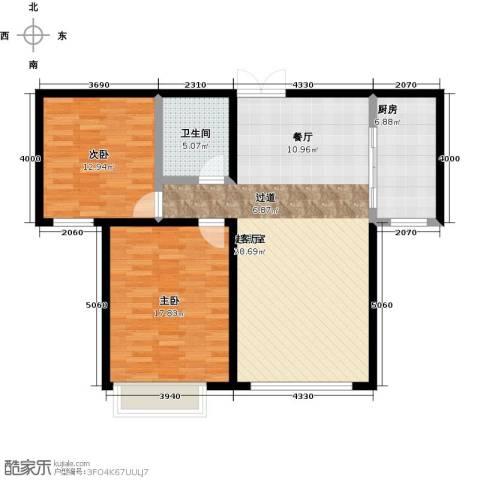 千家和众新家园2室0厅1卫1厨92.00㎡户型图