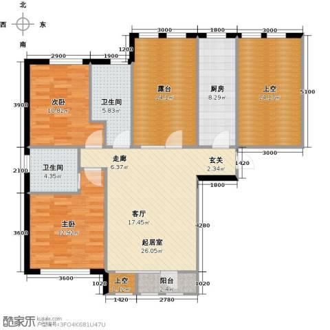 华宇梧桐苑2室0厅2卫1厨100.05㎡户型图