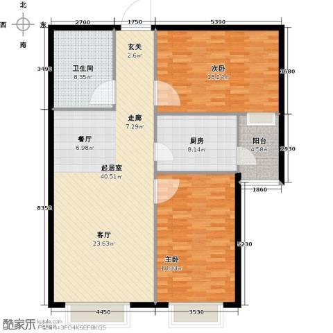 凯泰愉景2室0厅1卫1厨107.00㎡户型图