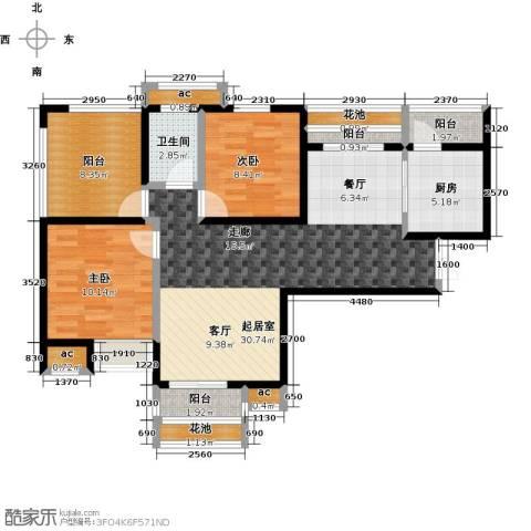 比克橄榄湾2室0厅1卫1厨108.00㎡户型图