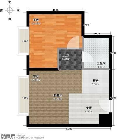 金宇钻石1室1厅1卫0厨45.80㎡户型图