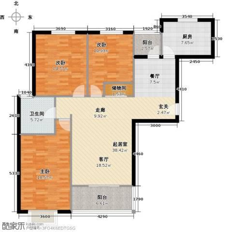 凯泰愉景3室0厅1卫1厨118.00㎡户型图