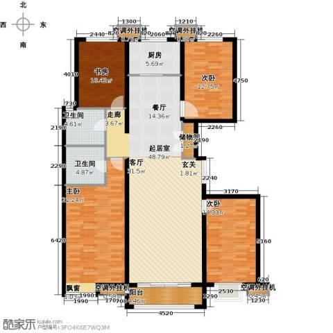 金宇新天地4室0厅2卫1厨175.00㎡户型图
