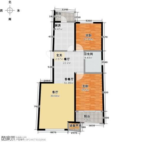 中红一品2室1厅1卫1厨142.22㎡户型图