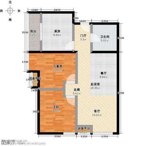 东城新一家2室0厅1卫1厨98.00㎡户型图
