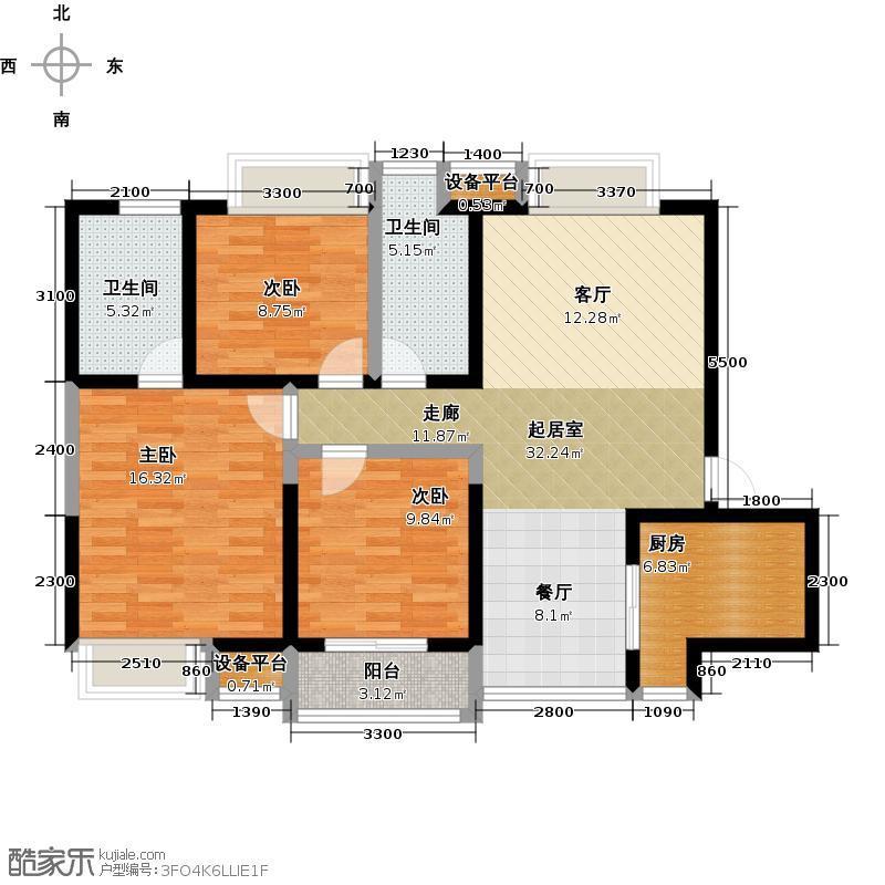 曲江紫汀苑2-A户型图户型