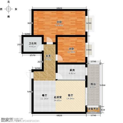 世纪锦绣2室0厅1卫1厨100.00㎡户型图