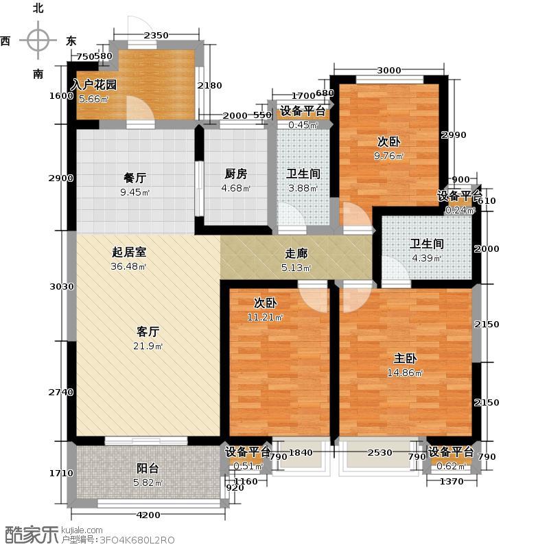 曲江紫汀苑2-C户型图户型