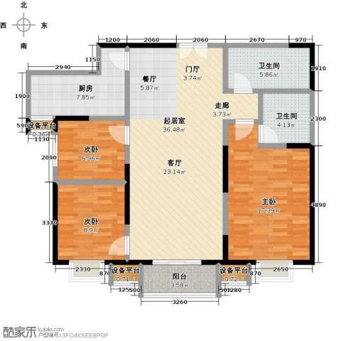 东城新一家3室0厅2卫1厨132.00㎡户型图