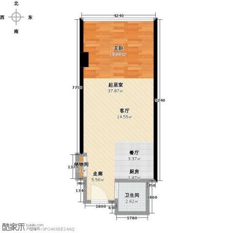 长安公馆1卫0厨45.00㎡户型图