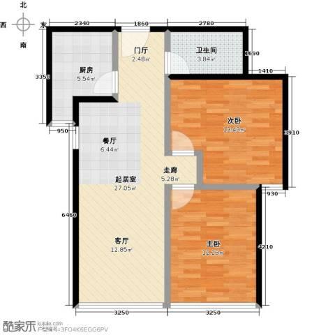 东城新一家2室0厅1卫1厨95.00㎡户型图