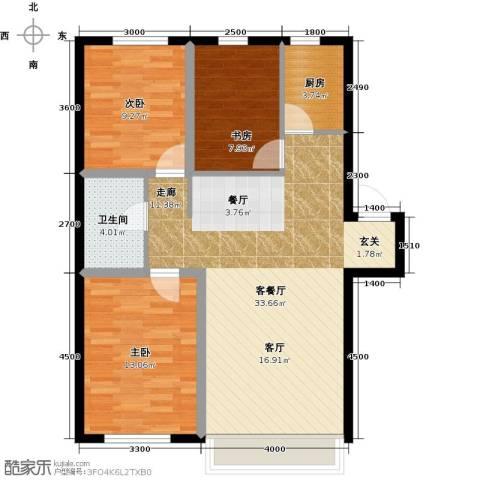 凯荣禧乐都3室1厅1卫1厨93.00㎡户型图