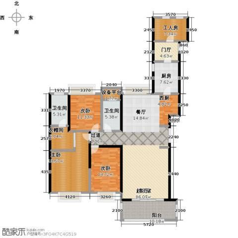 国贸天琴湾3室0厅2卫1厨168.00㎡户型图