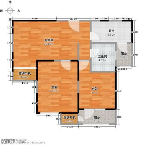 滨海欣嘉园2室0厅1卫1厨84.00㎡户型图