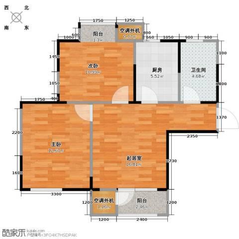 滨海欣嘉园2室0厅1卫1厨80.00㎡户型图