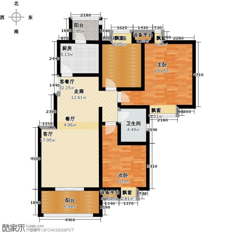 荣华水岸新城112.01㎡3室2厅2卫112.01平米D户型3室2厅2卫