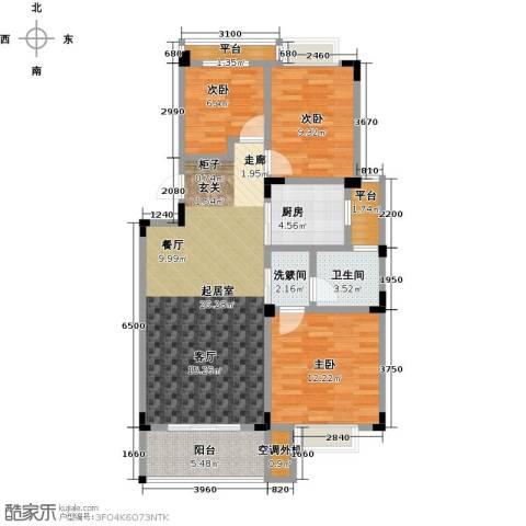 吉祥国际花园3室0厅1卫1厨89.00㎡户型图