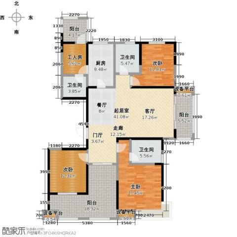高速滨湖时代广场3室0厅3卫1厨200.00㎡户型图