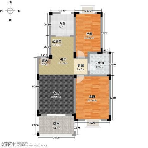 吉祥国际花园2室0厅1卫1厨89.00㎡户型图