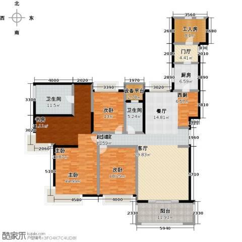 国贸天琴湾3室0厅2卫1厨214.00㎡户型图
