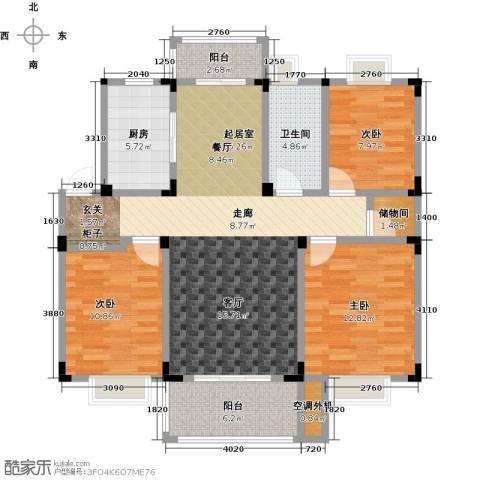 吉祥国际花园3室0厅1卫1厨108.00㎡户型图