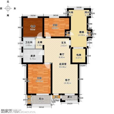 世纪名城3室0厅1卫1厨146.00㎡户型图