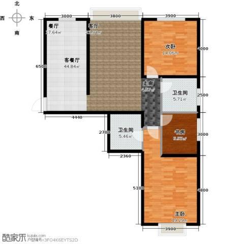 金宇钻石3室1厅2卫0厨106.34㎡户型图