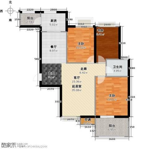 林隐天下3室0厅1卫1厨119.00㎡户型图