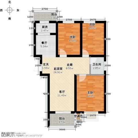 水泉文苑3室0厅1卫1厨100.00㎡户型图