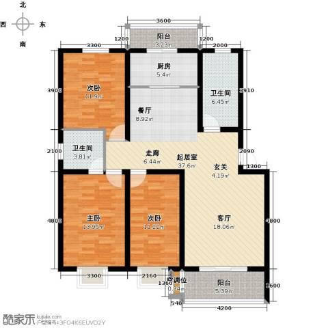 水泉文苑3室0厅2卫1厨143.00㎡户型图