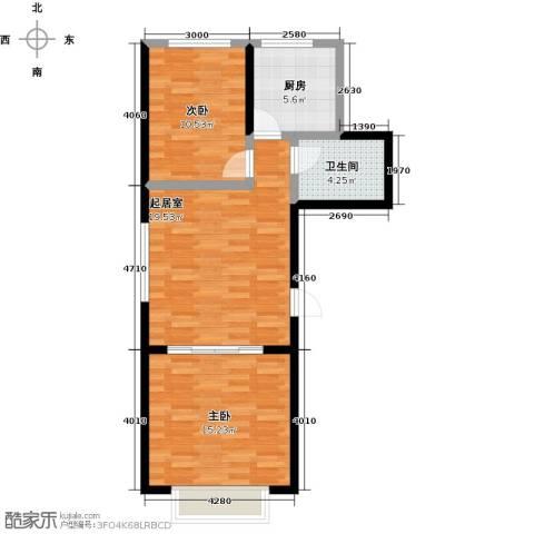 华清苑2室0厅1卫1厨66.00㎡户型图
