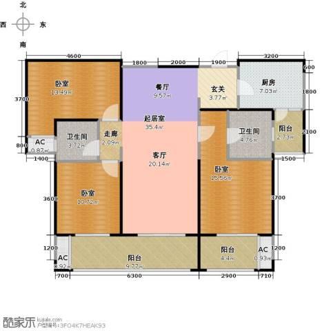 曲江千林郡2卫1厨149.00㎡户型图