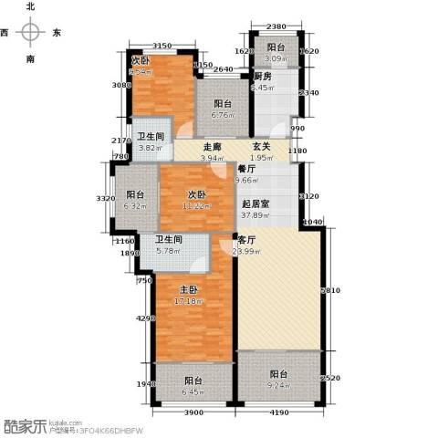 林隐天下3室0厅2卫1厨137.00㎡户型图