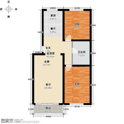 聚龙湾2室0厅1卫0厨95.20㎡户型图