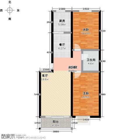 大学时光2室0厅1卫1厨89.00㎡户型图