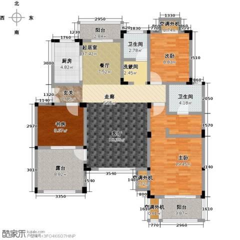 吉祥国际花园3室0厅2卫1厨126.00㎡户型图