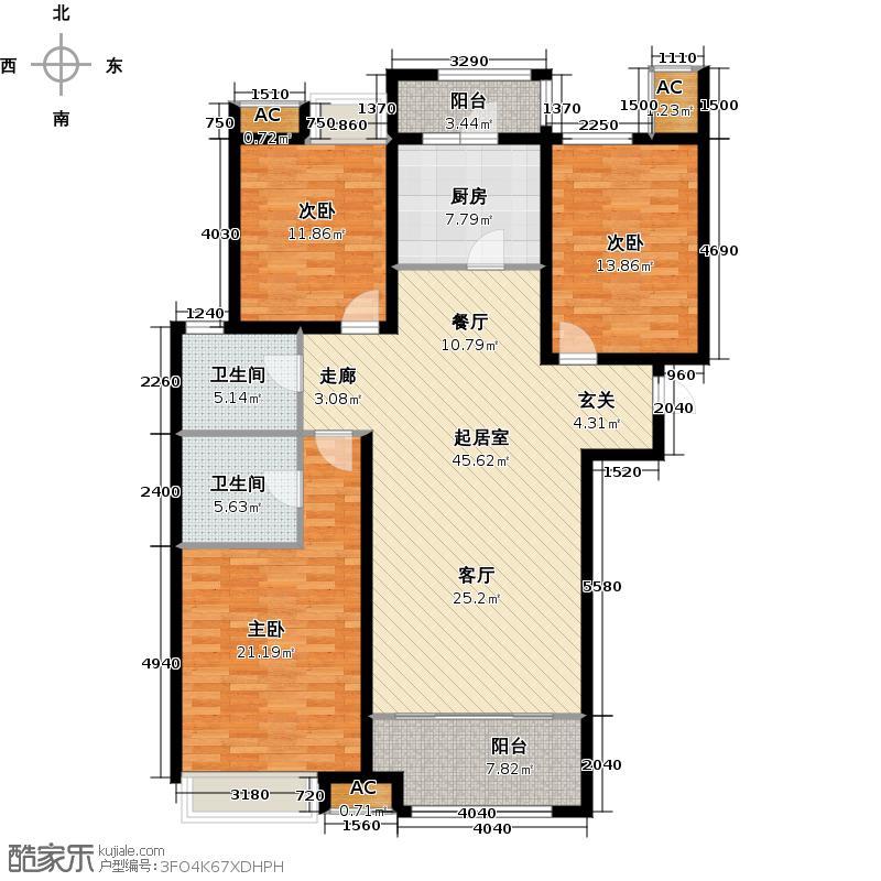 绿地新里卢浮公馆C4三室两厅两卫135-144平米户型QQ