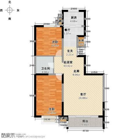 颐景阁2室0厅1卫1厨112.00㎡户型图