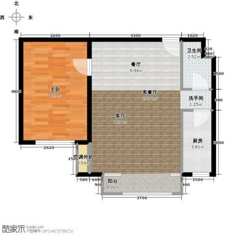 鑫和银座1室1厅1卫1厨79.00㎡户型图