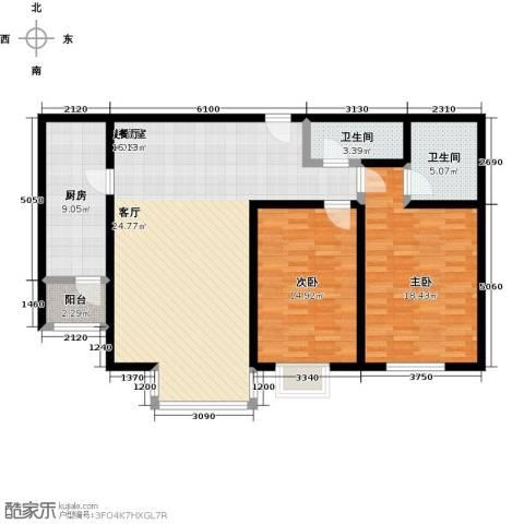 千家和泰・欣家园2室0厅2卫1厨103.00㎡户型图