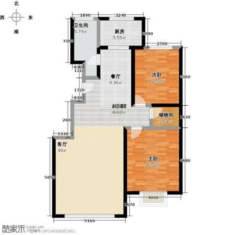 千家和众新家园2室0厅1卫1厨104.00㎡户型图