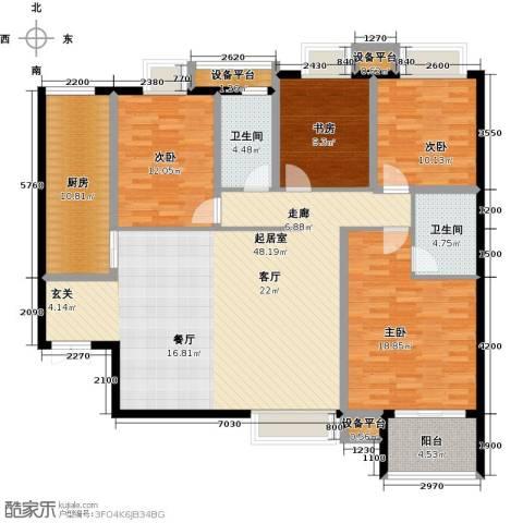 宫园壹号4室0厅2卫1厨177.00㎡户型图