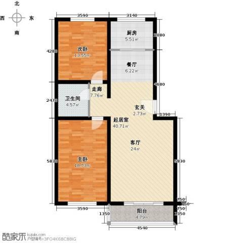 聚龙湾2室0厅1卫1厨99.01㎡户型图