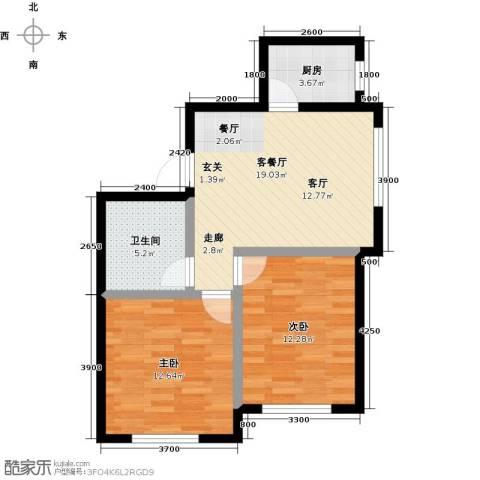 凯荣禧乐都2室1厅1卫1厨79.00㎡户型图