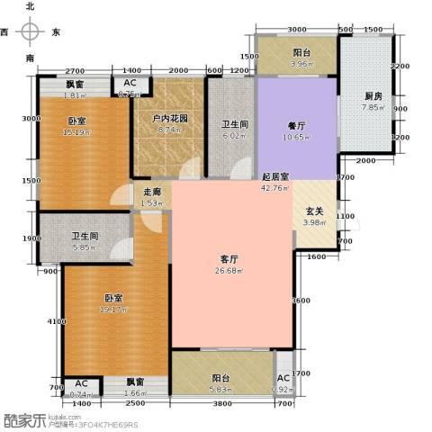 曲江千林郡2卫1厨159.00㎡户型图