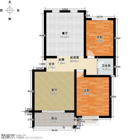 东润豪景2室0厅1卫0厨107.00㎡户型图
