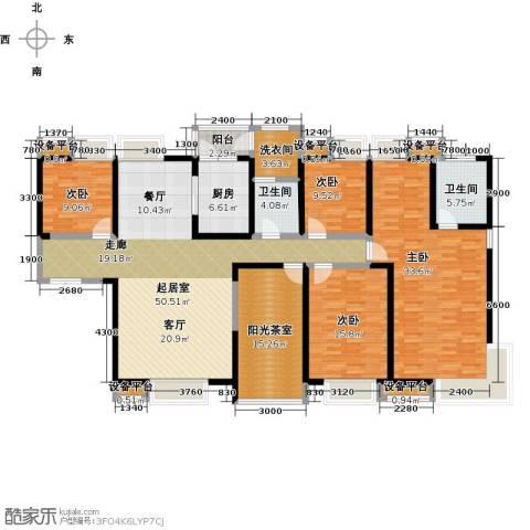 紫薇曲江意境4室0厅2卫1厨227.00㎡户型图