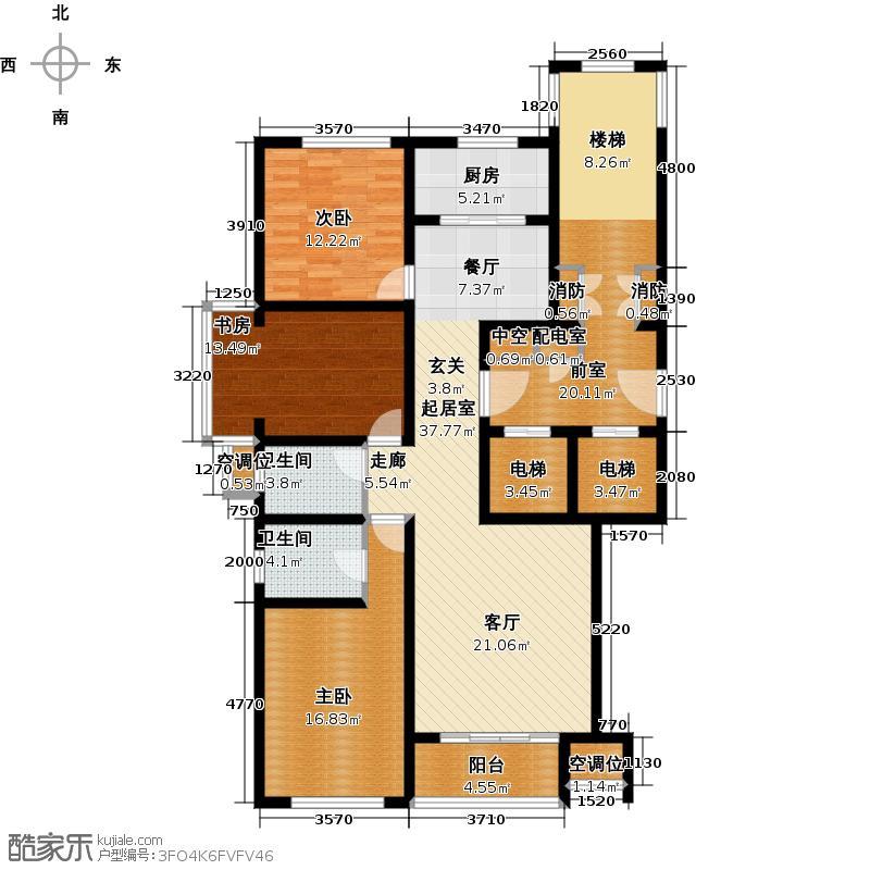 博园公寓150.00㎡E1户型3室2厅2卫